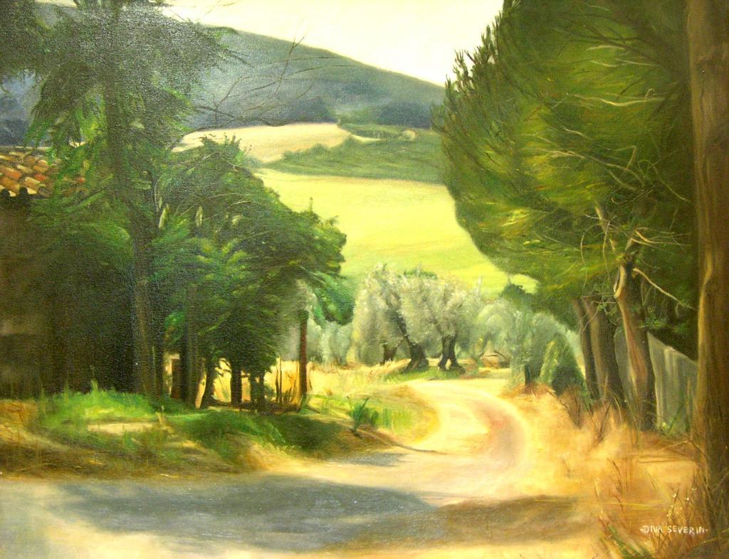 quadri di paesaggi della pittrice diva severin